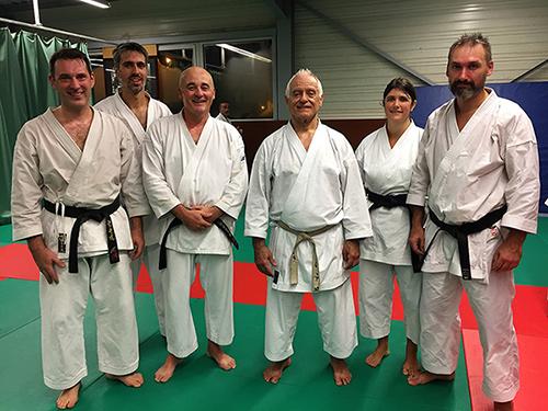 Marc, Julien, Thierry, Judith et Erwan aux côtés de Senseï Lavorato
